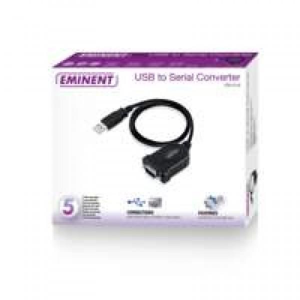 Eminent-EM1016-seriële-kabel-Zwart-0,6-m-USB-A-RS-232
